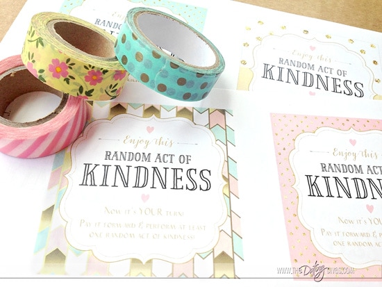 Free Printables to Perform Random Acts of Kindness