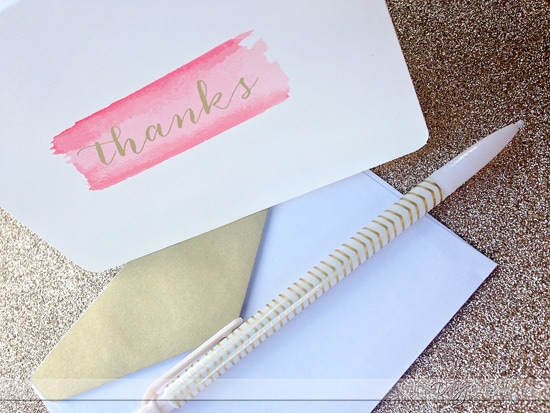 Performing random acts of kindness by writing thank you notes for those in the community.
