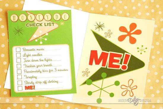 Sexy Honey Do List Card For Spouse