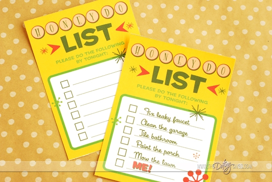 Sexy Honey Do List Checklist Printables