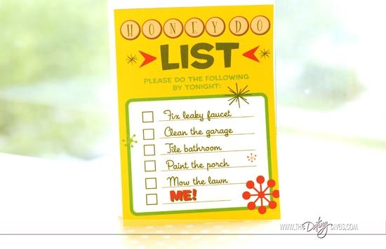 Sexy Honey Do List Printable