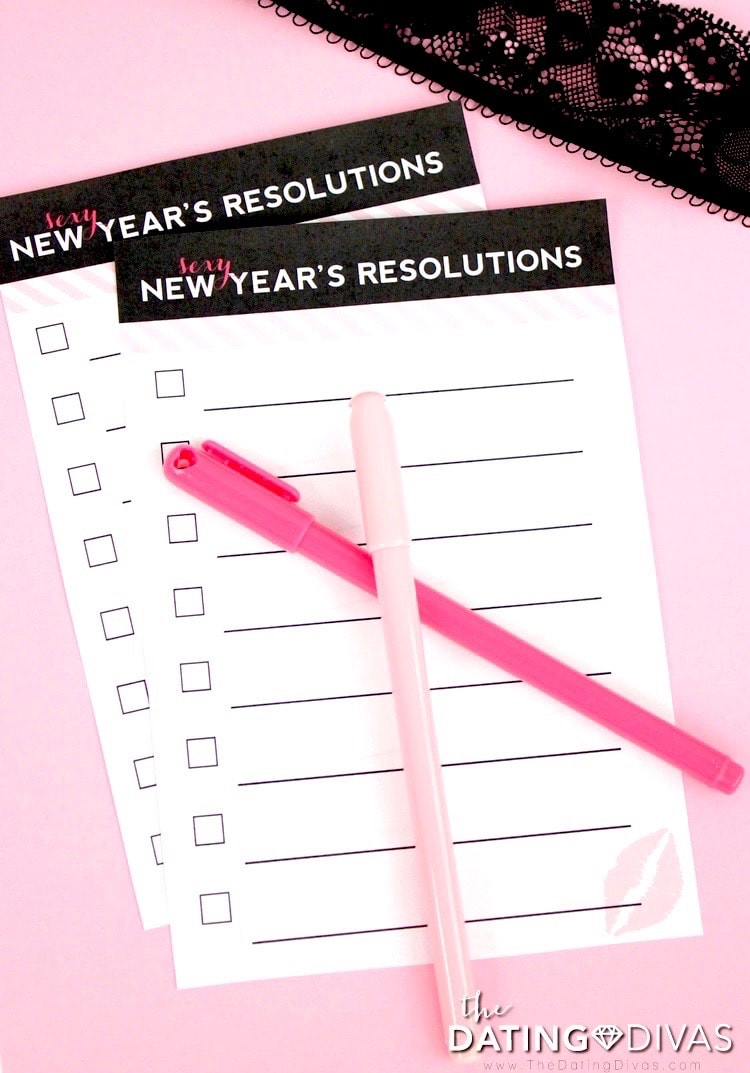 Sexy New Year's Resolutions Goals
