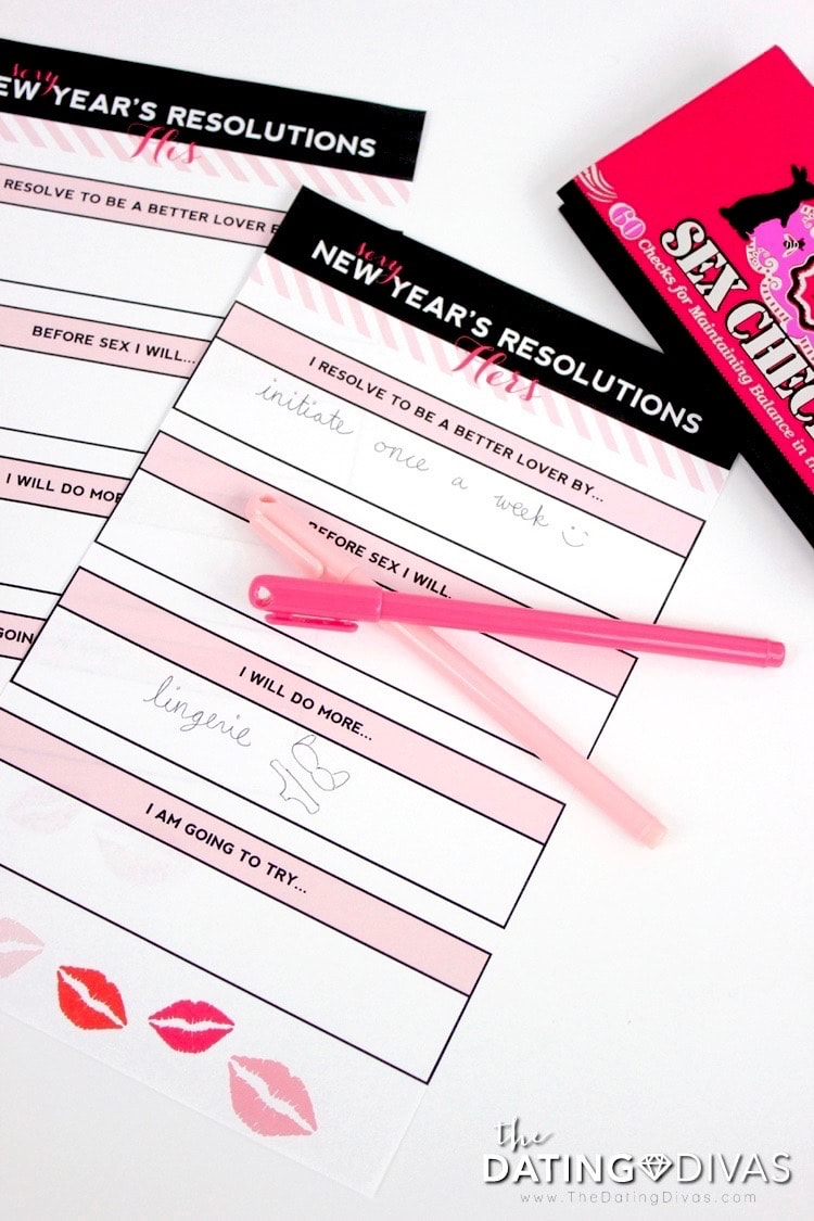 Intimate New Year's Resolutions