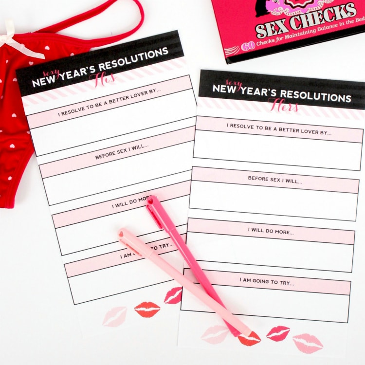 Sexy New Year's Resolutions