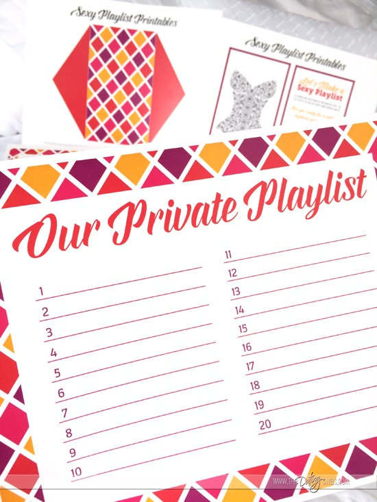Sexy Playlist Free Printables for a Night of Passion!