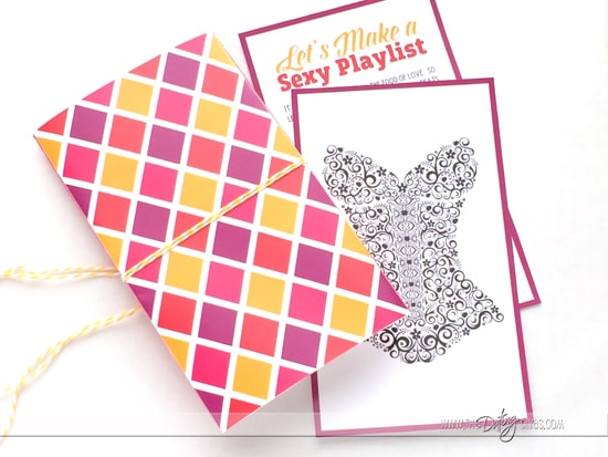 Sexy Playlist Invitation Set for Spicing Up the Bedroom