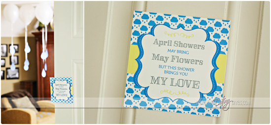 Showering you With Love Invite on Door
