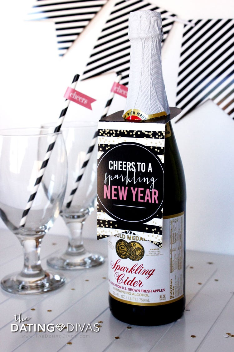 sparkling cider for a romantic new years eve