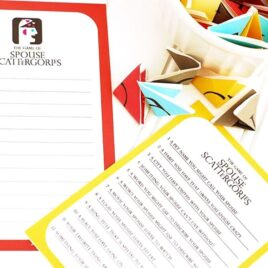 Spouse Scattergories Game