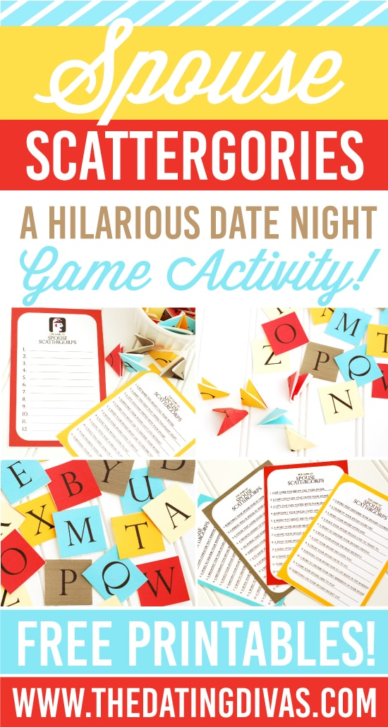 Scattergories Game Night Date Idea - from The Dating Divas