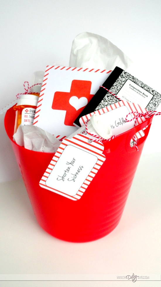 Spouse Sick Kit Bucket