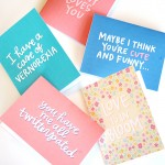 Spring Themed Love Cards- free printable