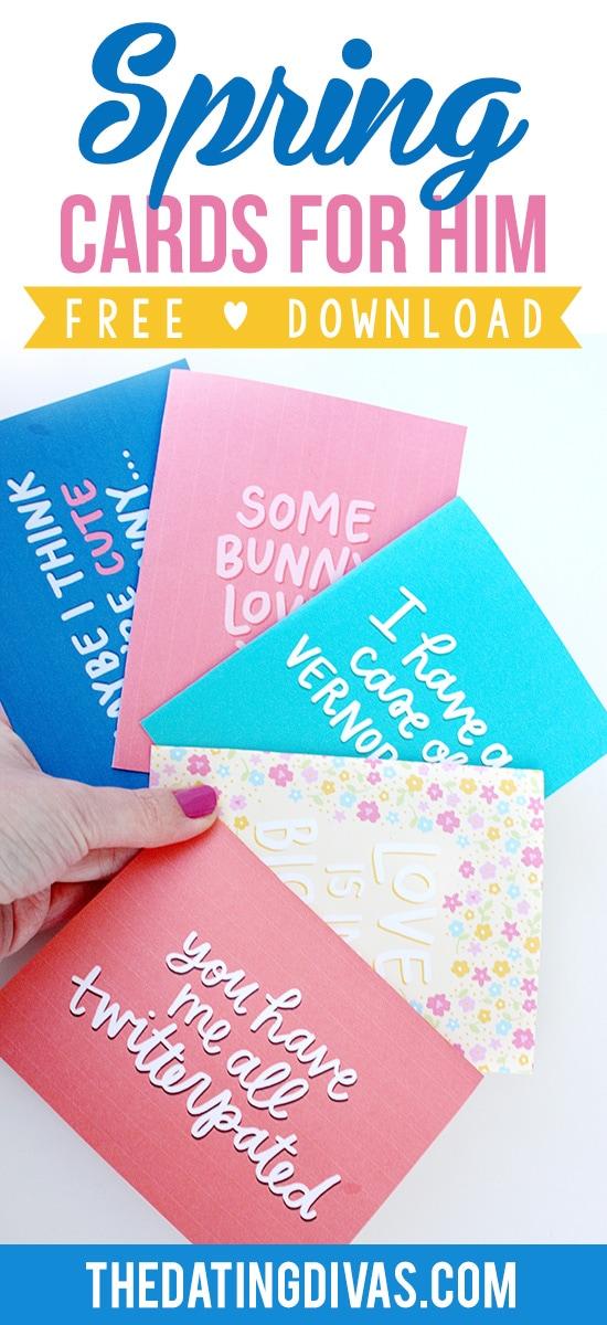 Spring Cards for Husband or Boyfriend