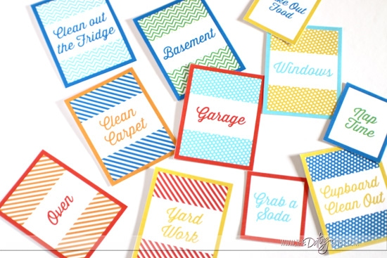 Spring Cleaning Date Tags