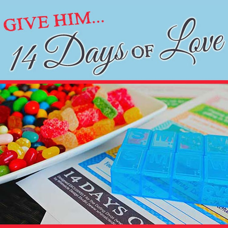 14 Days of Love printable love notes idea