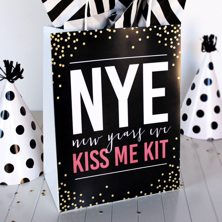 New Years Eve Kiss Me Kit for Couples