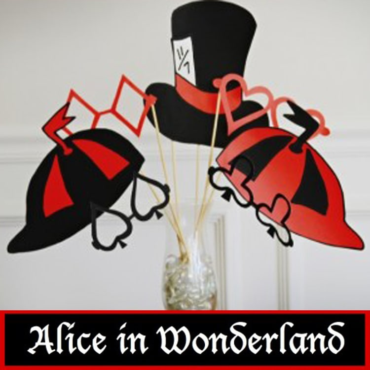 Alice in Wonderland Party props