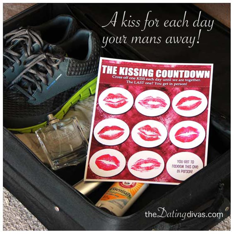 Kissing Countdown Long Distance printable idea