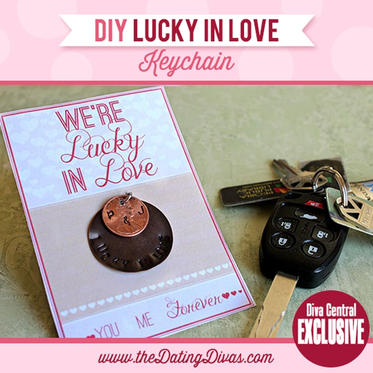 Lucky in Love Keychain DIY gift idea