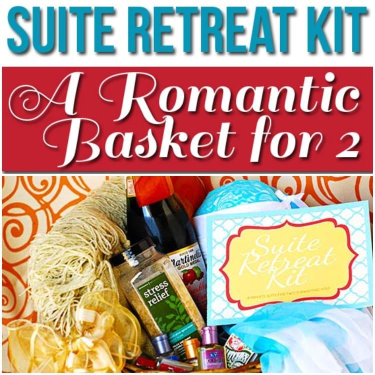 Suite Retreat romantic basket for two
