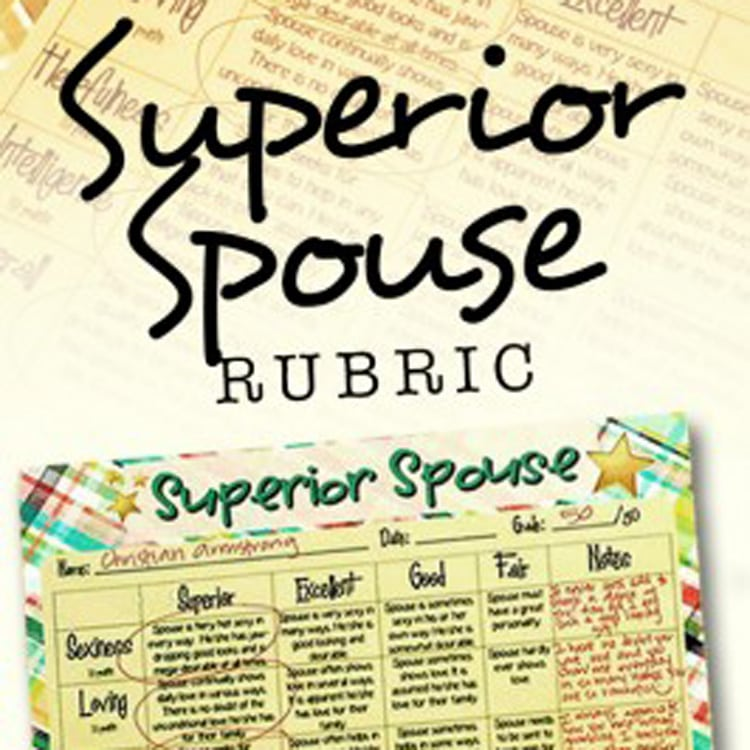 Superior Spouse Rubric printable card