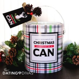 Adorable Christmas Day Countdown in a Can