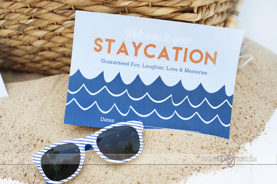 Staycation Printable Invitation