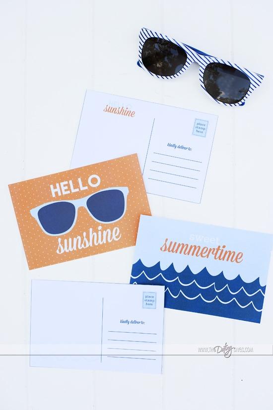 Staycation Printable Postcards