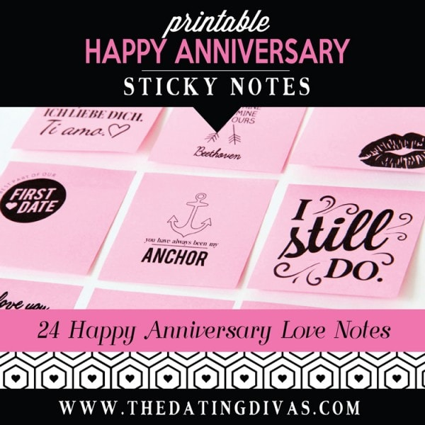 Love Sticky Notes Anniversary