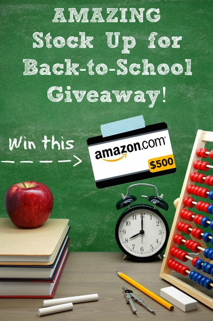 Back to School Amazon Giveaway