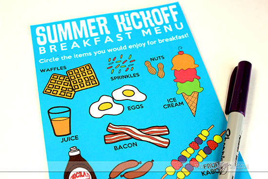 Summer Breakfast Kick-off Menu