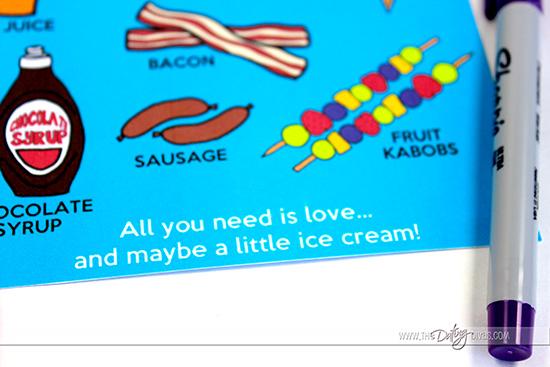 Summer Breakfast Menu - all you need is love!
