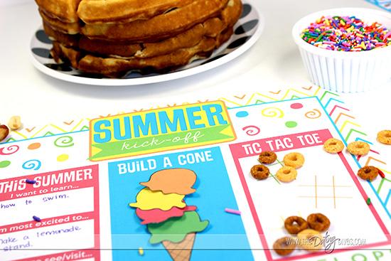 Summer Breakfast Placemat