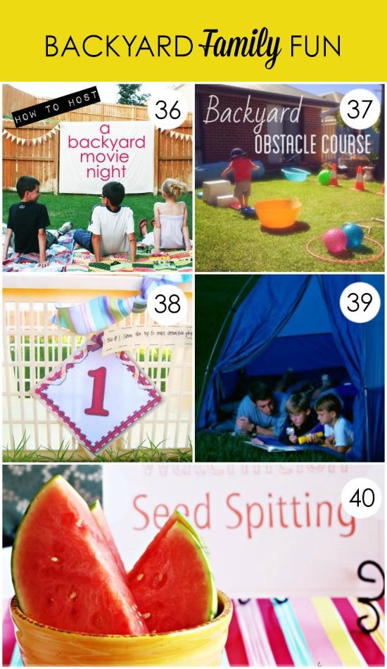 Summer Family Night Ideas