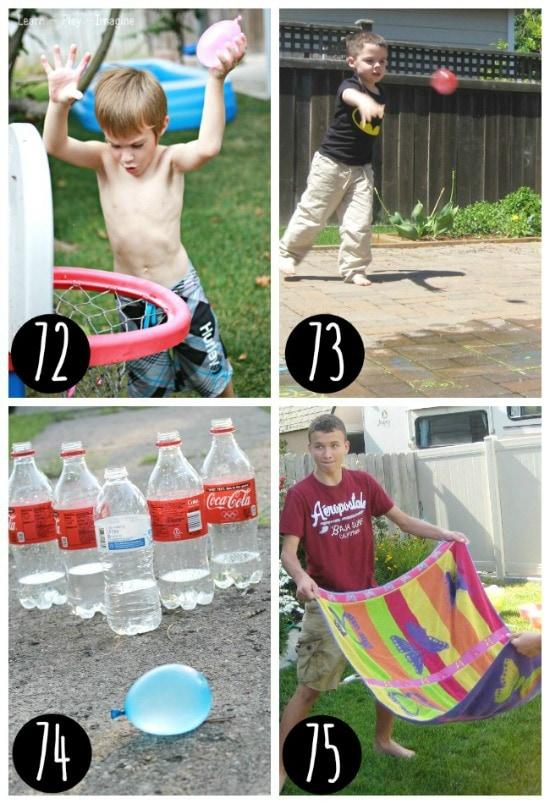Outdoor water games.