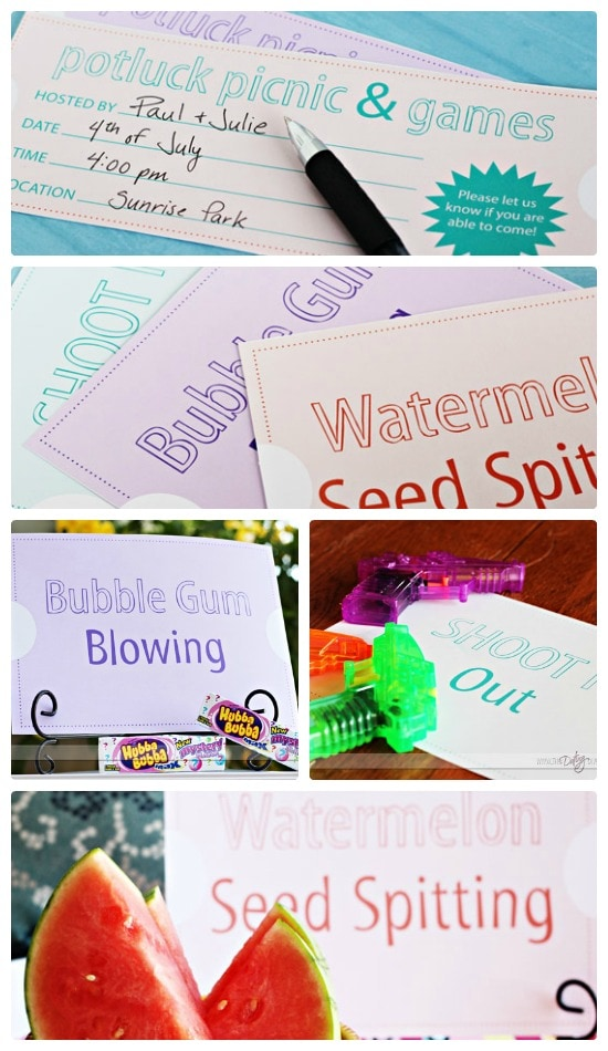 Summer Picnic Potluck Community Exclusive Printables