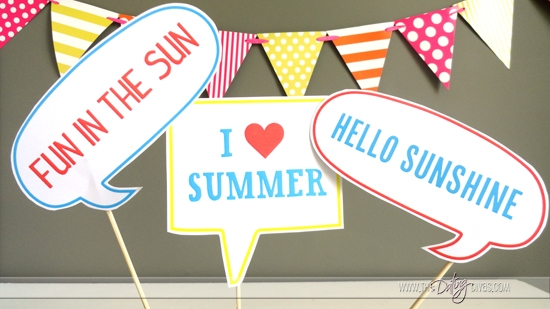 Summer Sayings Photo Props Printable