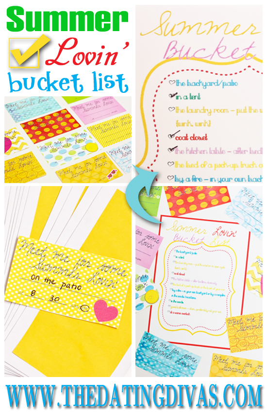 Summer Lovin' Bucket List Printables