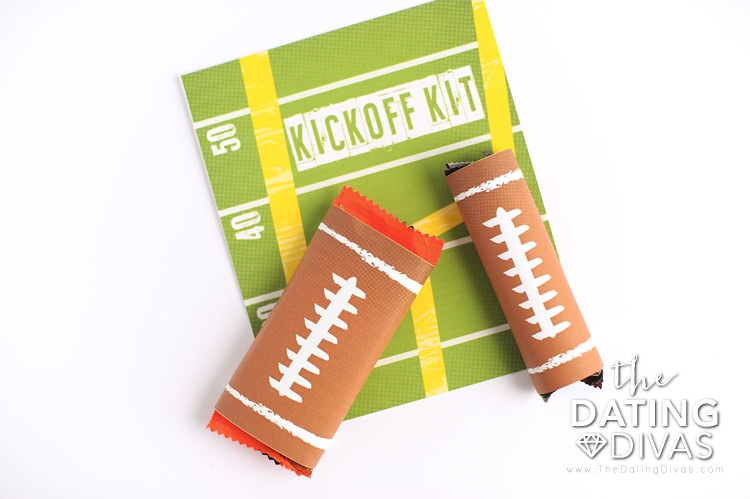 Football Candy Bar Wrapper Printables for a Super Bowl Kickoff Kit