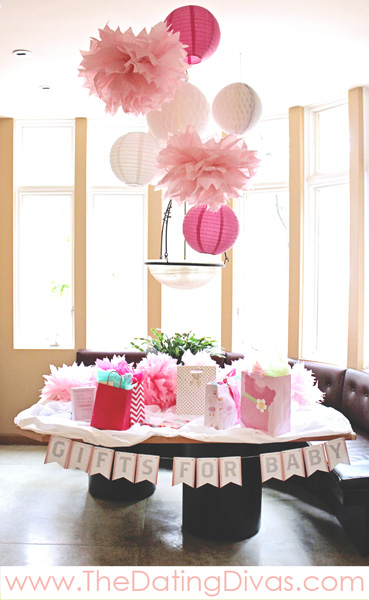 Super Cute Pretty In Pink Baby Shower Banner and Decor