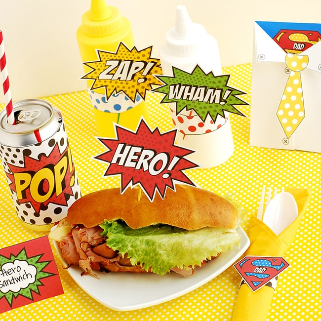 Super Hero Lunch 16-Square