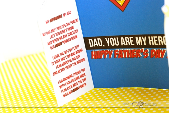 Father's Day Superhero Card Poem