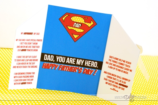 Free Superhero Father's Day Card