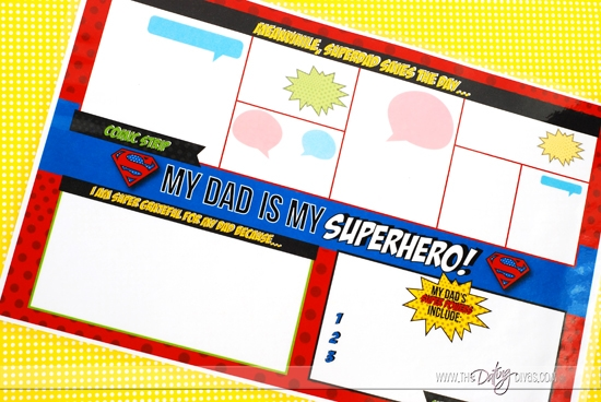 Father's Day Superhero Party Placemat