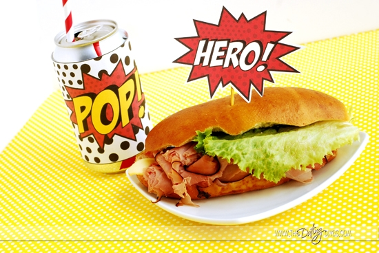 Father's Day Super Hero Lunch Food