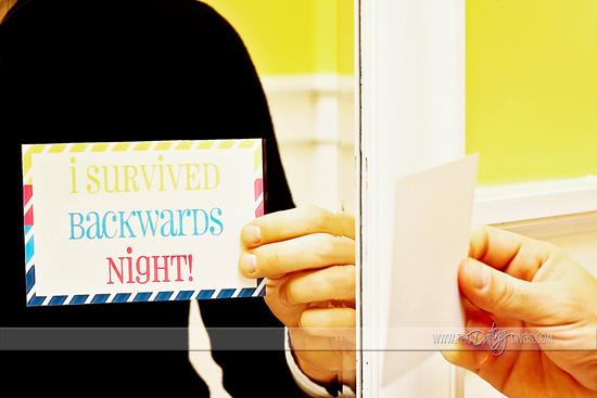 Backwards Date Night Printable Note