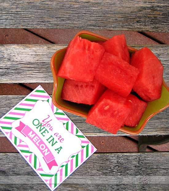 Sweet Watermelon Date Night Treat Love Note Cards
