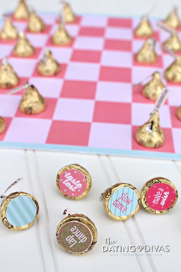 Sweetheart Bedroom Party Hershey Kisses Game of Checkers