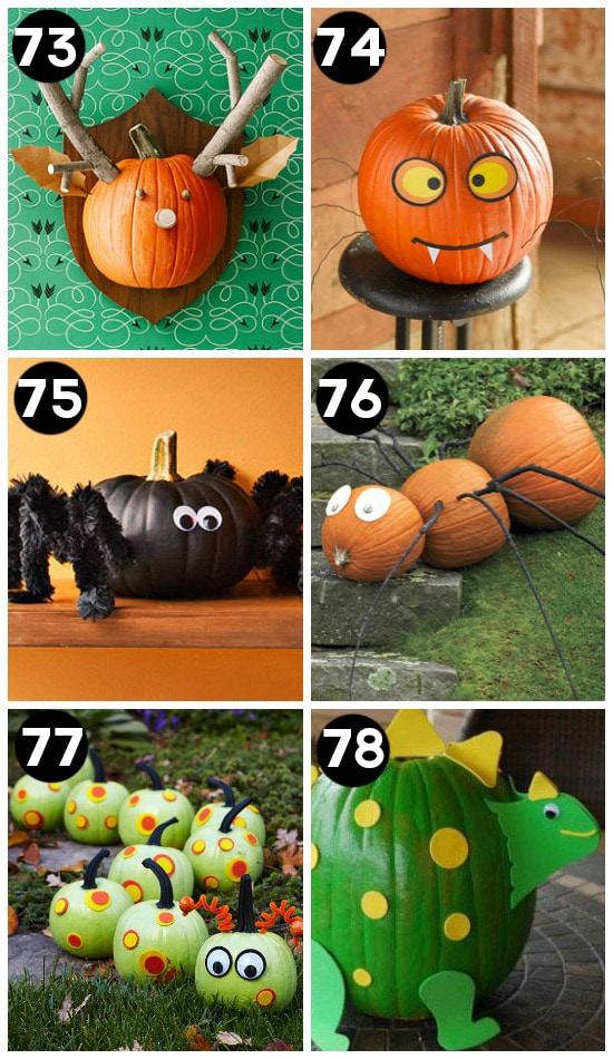 150 pumpkin decorating ideas Funny pumpkin painting ideas