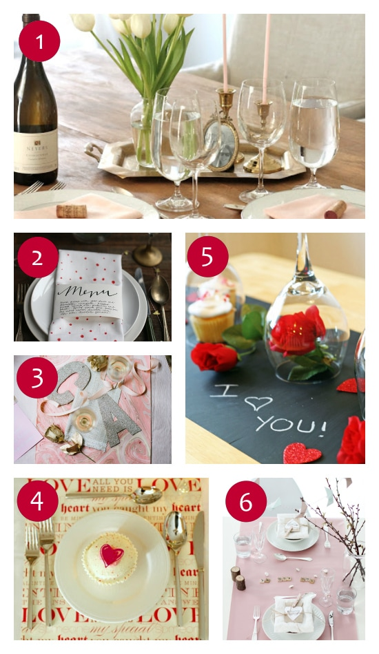 Table Setting Ideas for Valentine's